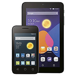 "Tesco Mobile Alcatel Pixi 3 (3.5"") Black & 7"" Tablet Bundle"