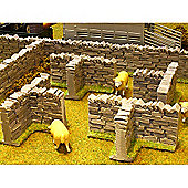 Brushwood Bt3008 Authentic Stone Wall T Sections - 1:32 Farm Toys