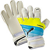 Puma Evopower Grip 2.3 Reg. Cut Junior Goalkeeper Gloves - White