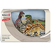 Schleich Three Dinosaur Scenery Pack