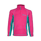 Ashbourne Kids Microfleece Walking Hiking Lightweight Micro Fleece Sweater Top - Pink