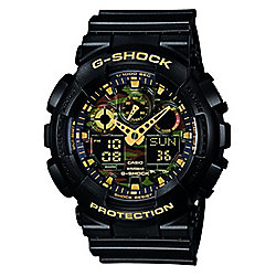 Casio G-Shock Mens Black World Time Watch GA-100CF-1A9ER
