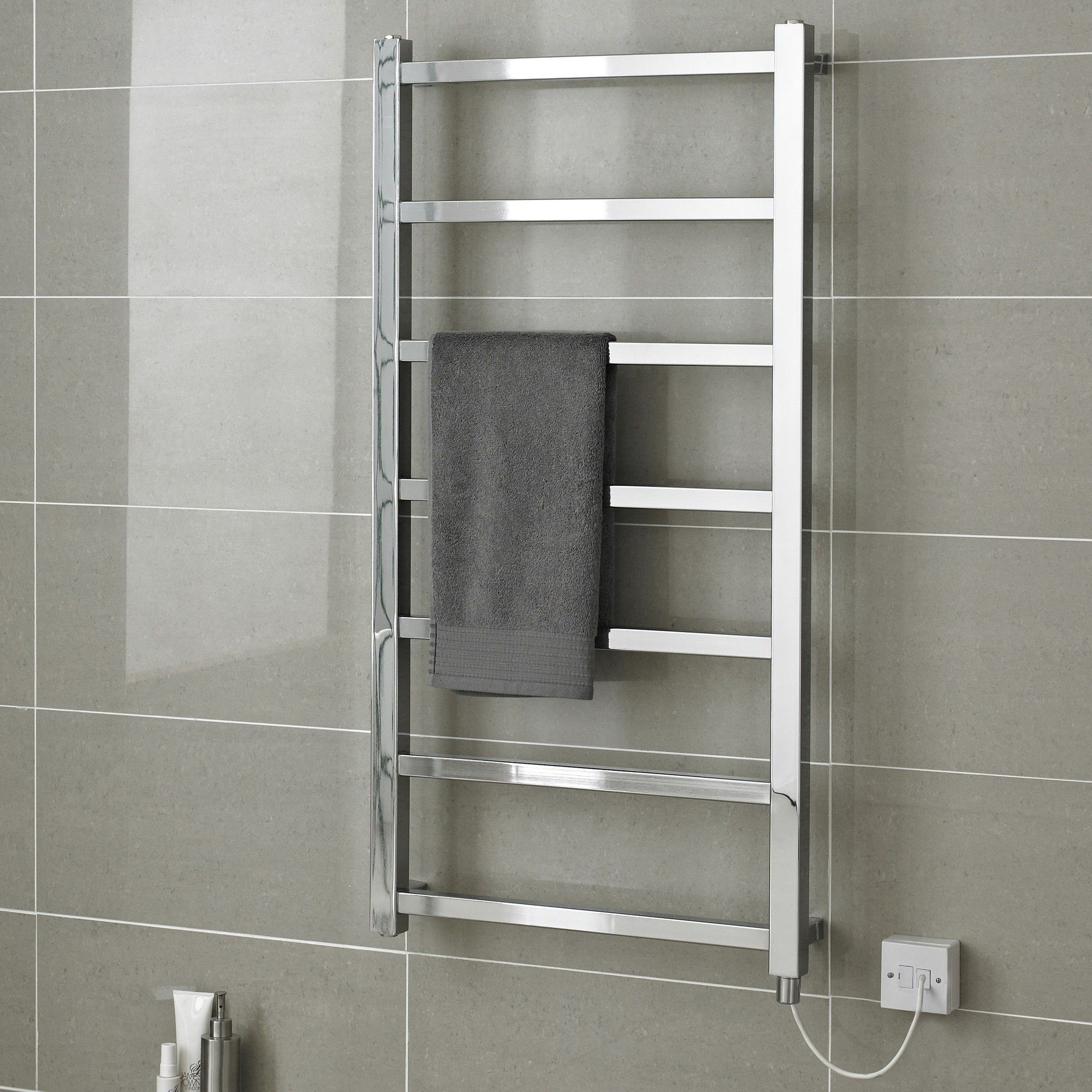 Hudson Reed Eton Electric Only Designer Radiator in Chrome - 120 cm x 60 cm at Tesco Direct