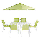 8-Piece Metal & Polyester Garden Furniture Set, Lime