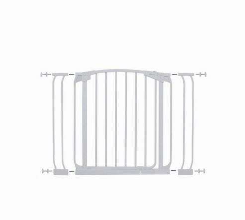 Dream Baby Swing Close Security Gate with Extensions - White