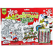 Colour Your Own Christmas Posters and Puzzle Set