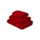 Linea Egyptian Hand Towel Red