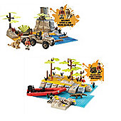Deadly 60 Bundle - Steve's Deadly Safari Set And Deadly 60 River Crossing Playset