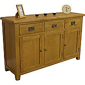 Tucan Oak Large 3 Door 3 Drawer Sideboard