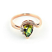 QP Jewellers Diamond & Peridot Belle Diamond Ring in 14K Rose Gold