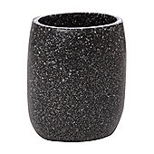 Linea Glass Glitter Tumbler In Black