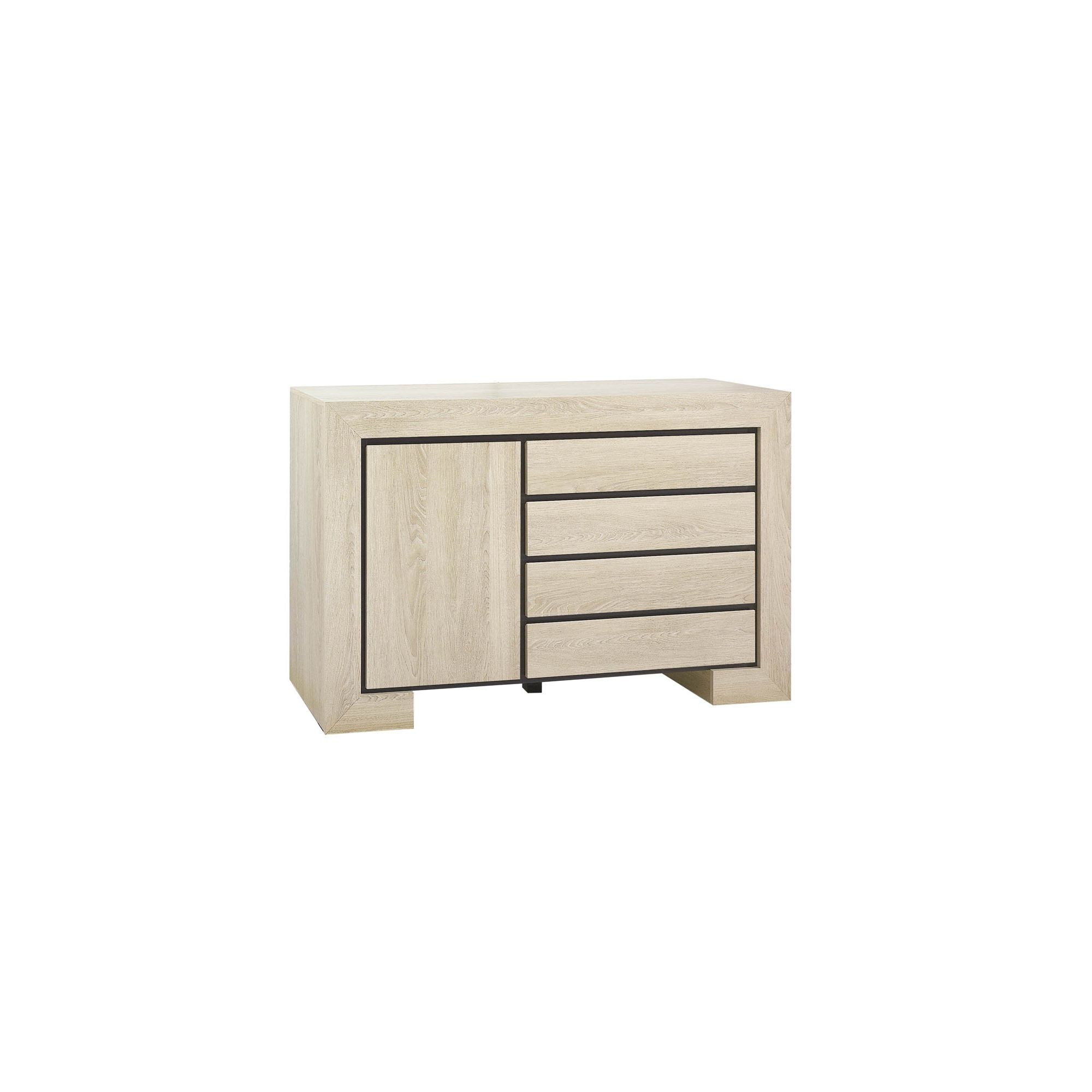 Urbane Designs Dominica Four Drawer Sideboard in Oak at Tesco Direct