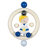 Heimess 734430 Wooden Ring Rattle (Prince)
