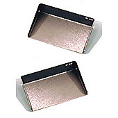 Stainless Steel Pair of Office Sticky Note Holders