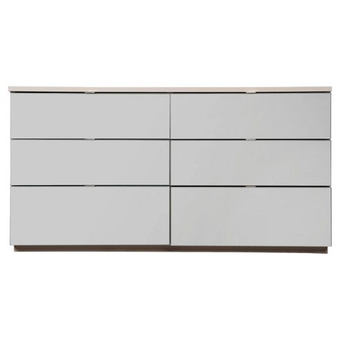 Palermo 6 Drawer Wide Chest, Mirrored