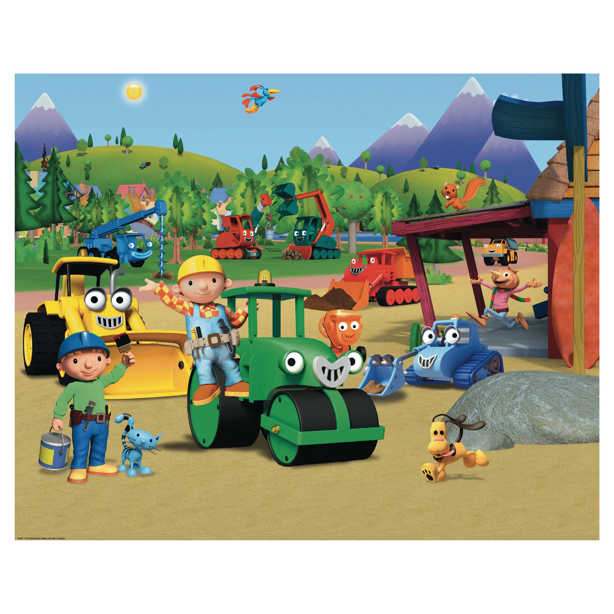 Myshop for Bob the builder wall mural