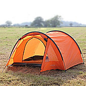 North Gear Camping Exodus Waterproof 4 Man Tunnel Tent Orange
