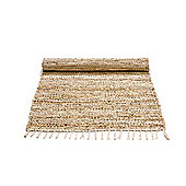 Rug Solid Beige Contemporary Rug - 240cm x 170cm (7 ft 10.5 in x 5 ft 7 in)