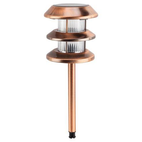 buy tesco brushed copper solar path marker 1 pack from. Black Bedroom Furniture Sets. Home Design Ideas
