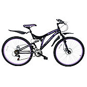 "Ferrite ladies full suspension Push Bike - 26"" wheel bicycle"