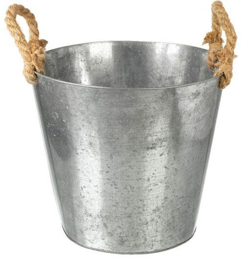 buy parlane large metal garden plant pot planter with. Black Bedroom Furniture Sets. Home Design Ideas