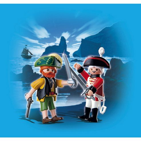 Playmobil Pirate and Redcoat Soldier