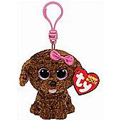 """Ty Beanie Boo Boos 3"""" Key Clip - Maddie the Brown Dog"""