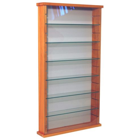 Techstyle Solid Wood 6 Shelf Glass Wall Display Cabinet