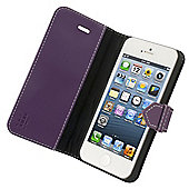 Tortoise™ Genuine Leather Folio Case iPhone 5/5S/SE Purple