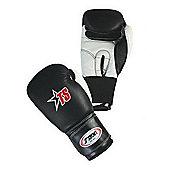 T-Sport Men's Leather Boxing Glove - Black & White