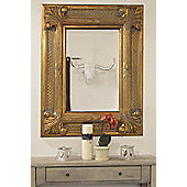 """Large Modern Shabby Chic 9"""" Frame Gold Regal Wall Mirror 4Ft X 3Ft2, 122 X 97Cm"""