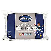 Silentnight Feather Pillow Extra Fill Twinpack