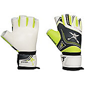 Precision Training Futsal Fingerless Super Low Latex Palm Goalkeeping Gloves - Multi