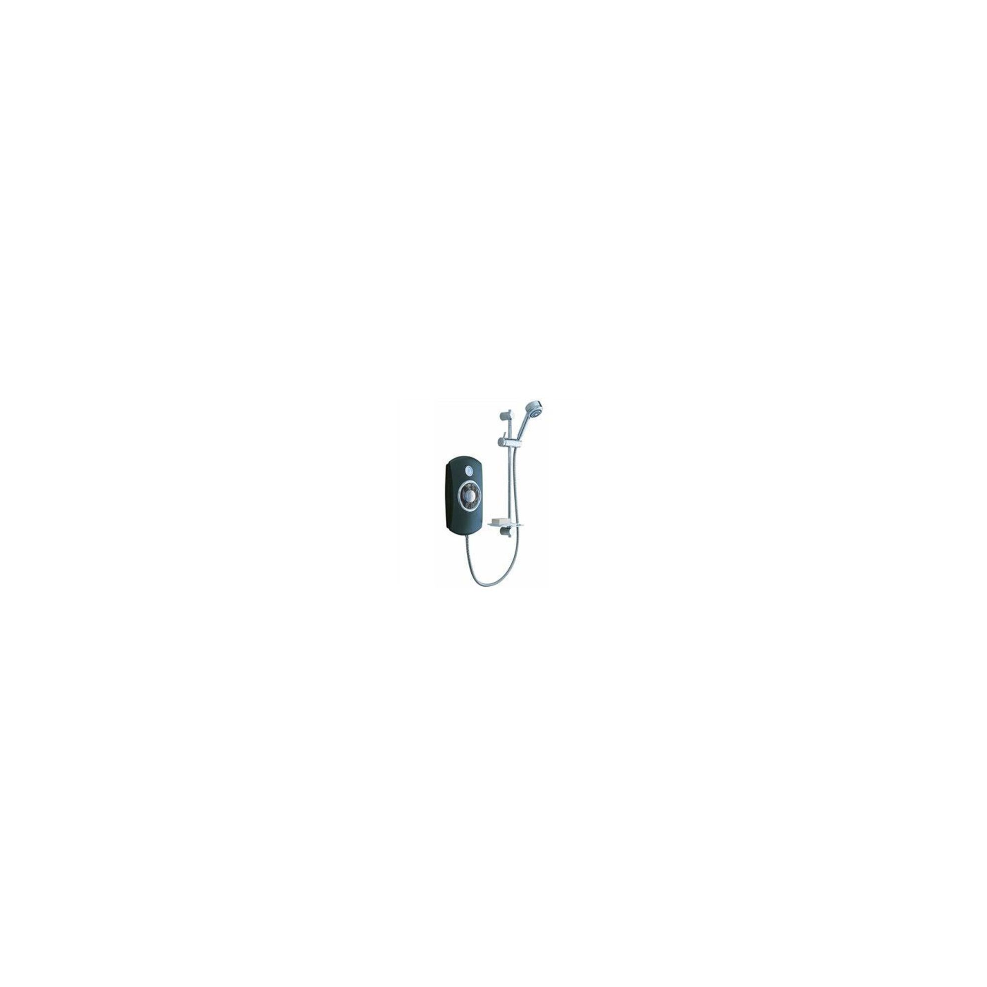 Mira Orbis 9.8 kW Electric Shower with 4 Spray Showerhead, Black at Tesco Direct