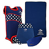 Konfidence Baby Swimming Starter Pack Polka Dot - Navy