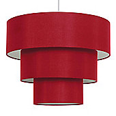 Vermont Three Tier Ceiling Pendant Light Shade in Red