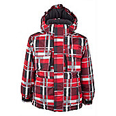 Goose Kids Waterproof Insulated Fleece Lined Hooded Skiing Ski Jacket - Red