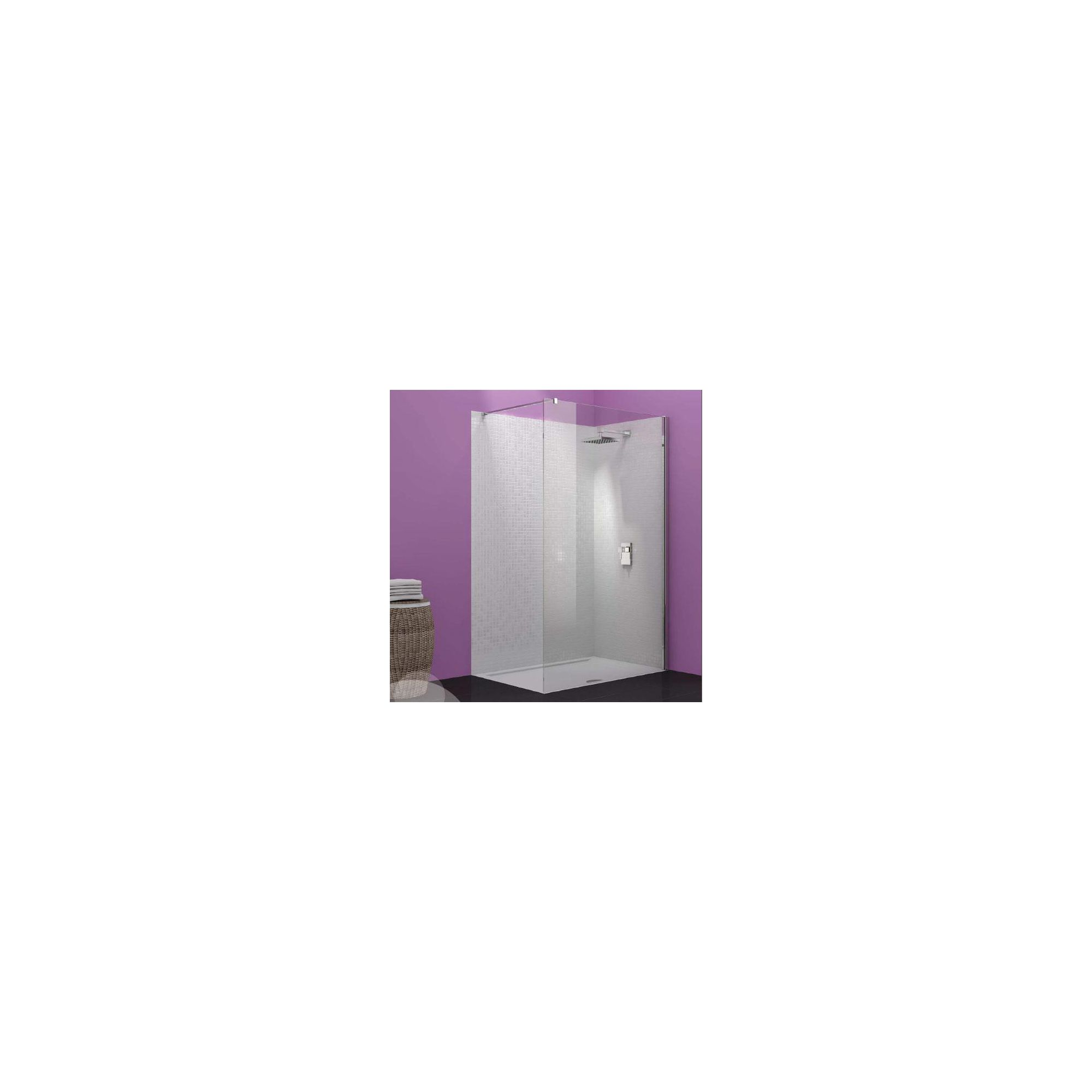Merlyn Vivid Ten Wet Room Shower Enclosure, 1200mm x 800mm, Low Profile Tray, 10mm Glass at Tesco Direct