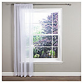 "Crystal Voile Slot Top Curtains W137xL122cm (54x48""), - White"