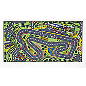 Formula 1 Large Racing Play Mat 100 x 190 cm