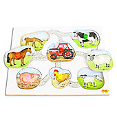Bigjigs Toys BJ060 Lift and Look Puzzle Farm Animals