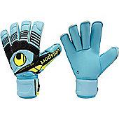 Uhlsport Eliminator Supersoft Rollfinger Jr. Goalkeeper Gloves - Blue
