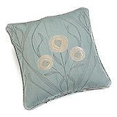 Rectella Montrose Duck Egg Blue Corded Jacquard Square Cushion Cover -46x46cm
