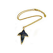 Lucas Jack Lapis Leaf Necklace