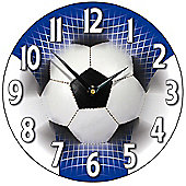Smith & Taylor Football Wall Clock in Blue and White
