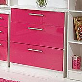 Welcome Furniture Knightsbridge 3 Drawer Chest - Cream - Ebony