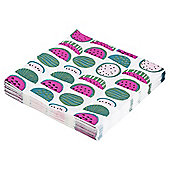 TABLE FUN WATERMELONS NAPKIN 33CM 20 PACK