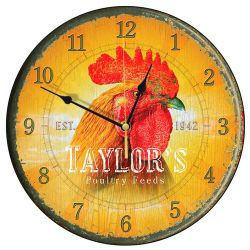 Smith & Taylor Taylor's Poultry Feed Cockerel Wall Clock