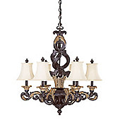 Savoy House Palmira Chandelier in Distressed Bronze