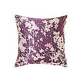 Pied A Terre Digital Leaf Print Cushion, Purple